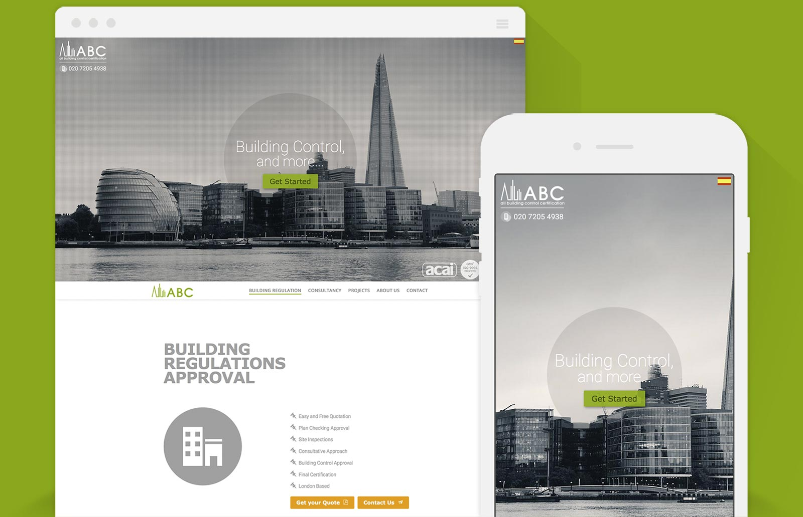 Diseño Web de ABC Limited