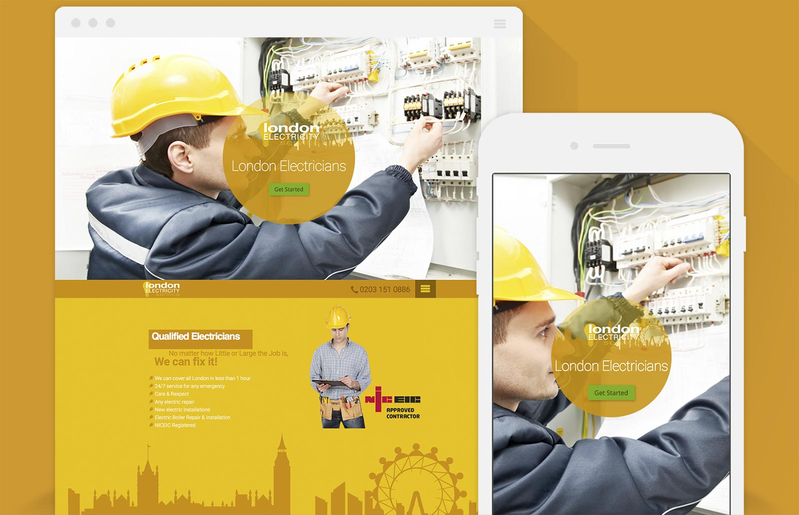 Diseño Web de London Electricity Service